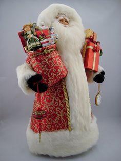 Elegant Santa Santa Claus Doll 22 Tall by DianesHeirloomSantas