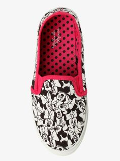 Disney Minnie Mouse Canvas Sneakers (Medium Width), ALL OVER MINNIE MOUSE