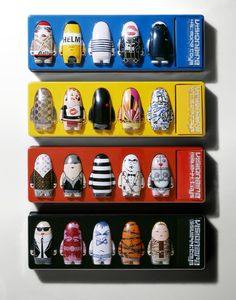 Twenty toys were produced in total across the two issues, featuring all-star contributions from Alexander McQueen, Helmut Lang, Maison Martin Margiela, Rei Kawakubo / Commes Des Garçons, Emilio Pucci, Vivienne Westwood, Hedi Slimane, Marc Jacobs, and John Paul Gaultier among others.