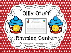 This is a quick and easy rhyming center to use in the month of March for Read Across America on Dr. Seuss Day or any time of year at a word work center! Students read and match the rhyming pairs and copy the words on a recording sheet. They will have fun thinking of silly sentences to write using the rhyming words!Birthday cupcake rhyming cards in a special theme and the recording sheet are included!