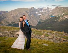 Rocky Mountain National Park Wedding Morning in Mountains