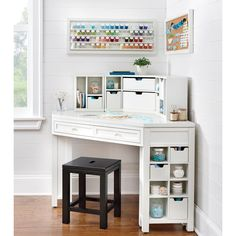 Martha Stewart Living 13 in. H x 32 in. W Cubbies in Picket Fence - The Home Depot Martha Stewart Living 13 in. H x 32 in. W Cubbies in Picket Fence - The Home Depot Space Crafts, Decor, Corner Writing Desk, Desks For Small Spaces, Home Office Decor, Corner Storage, Small Corner Desk, Craft Tables With Storage, Living Storage