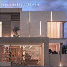 Modern Exterior House Designs, Modern Villa Design, Exterior Design, Facade Architecture, Islamic Architecture, House Front Design, Facade House, Facade Design, Building Design