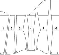 Underbust corset pattern drafting tutorial. by Katafalk, Cathrin Åhlén.