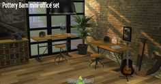 Sims 4 CC's - The Best: Pottery Barn office by Around the Sims