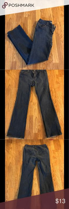 Lane Bryant Slim Boot Cut Jeans Size 16T Lane Bryant slim boot cut jeans 16 tall. Slight wear and tear on the bottom back of the legs as shown in the picture!! Made of 90% cotton, 8% polyester and 2% lycra spandex. Leg length is 34.5 inches Lane Bryant Jeans