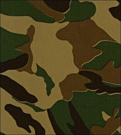 Oilcloth By The Yard - Camouflage