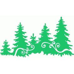 Silhouette Design Store - View Design #97464: winter pine trees