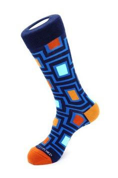 Maze Sock, Blue Socks, Blue Unsimply Stitched Socks Blue Socks, Crazy Socks, Happy Socks, 2 Ply, Color Patterns, Girl Outfits, Maze, Mens Fashion, Heels