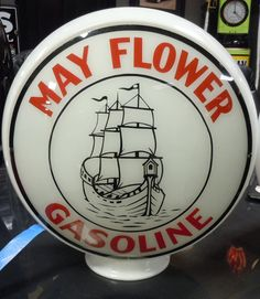 Super rare original Mayflower Gasoline gas globe.