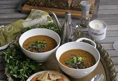 Dýňová polévka s černými fazolemi   Veganotic