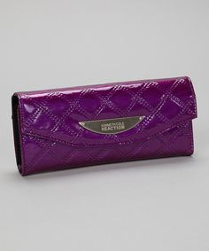 Kenneth Cole Reaction Amethyst Quilted Trie Me a River Clutch by Kenneth Cole Reaction #zulily #zulilyfinds