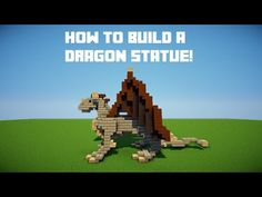 Minecraft Tutorials | How to build a dragon statue - YouTube