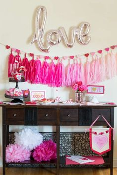 Don't miss this gorgeous Valentine's Day party. Loving the balloon backdrop! See more party ideas and share yours at CatchMyParty.com