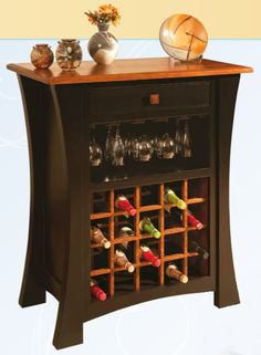 Amish Arts & Crafts Wine Cabinet