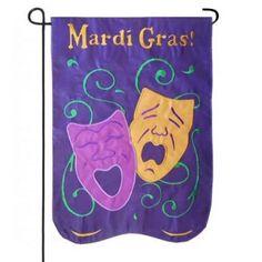 Mardi Gras Masks Garden Flag