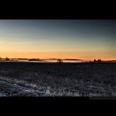 Soluppgång. Tortuna. Sweden