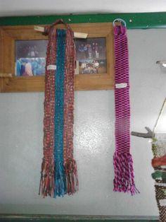 Fajas, tejidas en tecnica peinecillo en telar araucano, hechos por Sandra