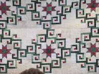 Mary Downey's Aegean Sea quilt from Judy Martin's book, Stellar Quilts. Mt. Vernon Quilters: January Show and Tell