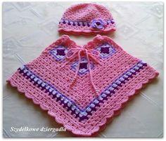 Galería: 31 Fotos de Capas y Ponchos para niñas a Crochet | CTejidas [Crochet y Dos Agujas]
