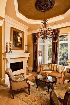 old world family rooms | Mediterranean/Old World/Traditional/Tuscan Family Rooms, Living Rooms ...