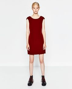 Image 1 of STRAIGHT CUT DRESS WITH LOW-CUT BACK from Zara