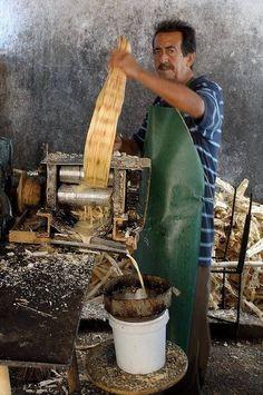 Sugar cane juice . Cuba