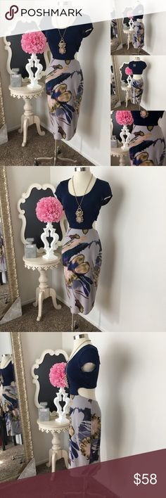 🌺 MKC - Marisa Kenson  Hot Navy Print Dress 🌺 MKC - Marisa Kenson Collection  Hot Navy Print Bottom Dress w/ Cut Out Back Design - U- Front Neckline - Cap Sleeve - Open Cut Out Back Design - Dress Is Lined  $88 New w/ Tags. (Reg: $115) Size: Medium  Fabric : 92% Polyester- 8% Spandex  🌺 Accessories Not Included But Are also for Sale  Please Check out my Other Items in my GIRLe B Posh Shoppe'  Like us on FB   www.facebook.com/girleboutique Thanks For Looking & Always Let your Clothes get…
