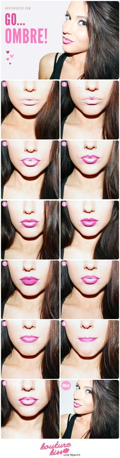 Step 1: Begin with primed lips. I used MAC Lip Erase. Step 2: Choose the color scheme you want to go with. Use the darkest shade as your lip liner and apply to the cupids bow and the bottom of the lower lip. Step 3: Finish lining the lips from the inside out. Step 4:...