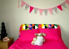 Bye baby bunting Teen tween girl boy transgender unisex wall decor   #Handmade #bunting #pink