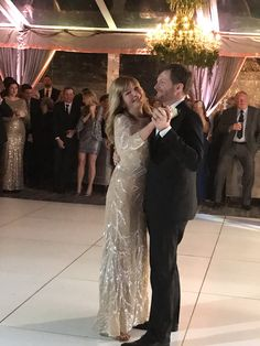 Dale Jr. dances with his Mom, Brenda at his wedding to Amy. Dec. 31, 2016
