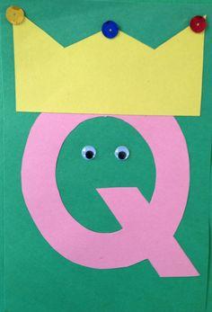 Letter Q Crafts – Preschool and Kindergarten – Crafts - letter crafts preschool alphabet Q Crafts For Preschool, Abc Crafts, Preschool Letters, Kindergarten Crafts, Classroom Crafts, Alphabet Activities, Preschool Activities, Prek Literacy, Toddler Crafts