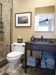Small Bathroom Makeovers Design, toilet close to shower idea