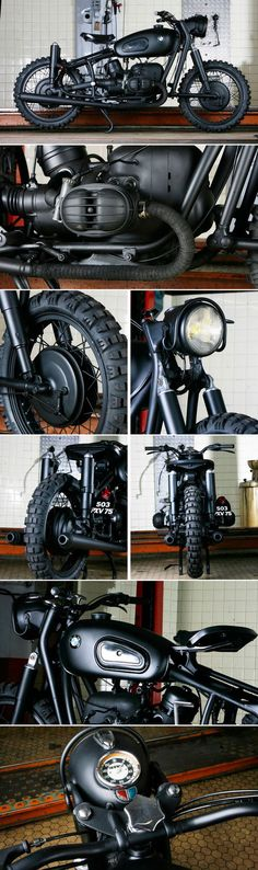 "Escape, protección de faro, llantas delgadas, y suspensión (delantera y trasera!! BMW R100 ""The Great Escape"" by Blitz Motorcycles - http://blitz-motorcycles.com/"