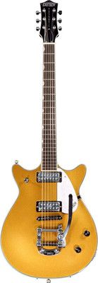 Gretsch G5248T Double Jet in Gold Sparkle with Bigsby