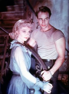 """Marlon Brando in Tennessee Williams' A Streetcar Named Desire. When she was later asked whether she'd run into Marlon since filming Streetcar in 1950, she replied, """"No, never. I never set eyes on him, unfortunately."""""""