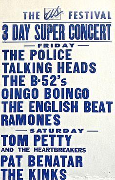US Festival Concert Poster https://www.facebook.com/FromTheWaybackMachine