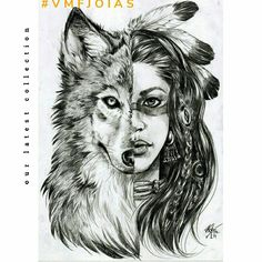 A mystical ambiguous symbolic animal, the wolf is commonly represented in art. Find tips for learning how to make easy wolf drawing. Hip Tattoo Small, Small Flower Tattoos, Small Tattoos, Be Wolf, Wolf Tattoos For Women, Dragon Tattoo Back, Indian Wolf, Boho Tattoos, Woman Tattoos