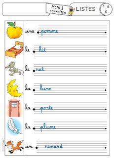 French Handwriting, Handwriting Alphabet, Handwriting Worksheets, Handwriting Practice, Preschool Letters, Preschool Worksheets, French Education, Kids Education, Math Software