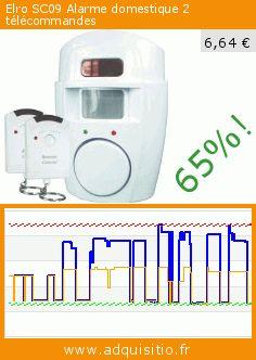 Elro SC09 Alarme domestique 2 télécommandes (Outils et accessoires). Réduction de 65%! Prix actuel 6,64 €, l'ancien prix était de 18,77 €. https://www.adquisitio.fr/elro/sc09-alarme-domestique-2