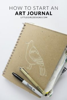 How to Start an Art Journal - Art journaling is a great way to catalog your thoughts in a visual way and they're not that difficult to start either. Here are some thoughts on getting started today!