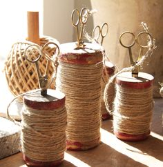 Spools of jute paired with classic scissors. photo: nay vogel