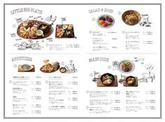 Very clear layout. Love the complimenting illustrations of the food and the cartoons.