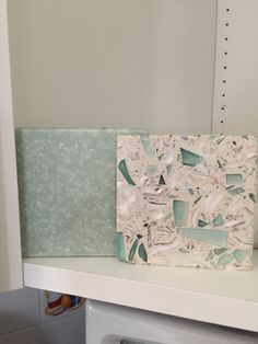 I - Countertop and island-  Corian Cilantro  and recycled glass Emerald Coast by Vertrazzo