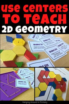 Engage your students with Hands-On Geometry Centers Teaching Geometry, Geometry Activities, 2nd Grade Classroom, Math Classroom, Second Grade Math, Grade 2, Year 1 Maths, Teaching First Grade, Teacher Inspiration