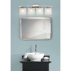 "Possini White Linen Glass 32"" Wide Bathroom Light Fixture -  lamp plus"