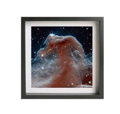 "Hubble Space Photography ""Horse Head Nebula"" (13"" x 13"") Giclee Print on Metallic Paper Framed Art #space #galaxy #telescope #photography #nasa #hubble #stars #universe"