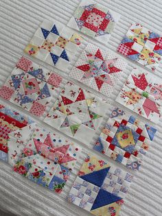 sampler quilt blocks I love this fabric! Sampler Quilts, Star Quilts, Scrappy Quilts, Mini Quilts, Quilting Tutorials, Quilting Projects, Quilting Designs, Quilting Tips, Quilt Block Patterns