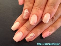Simple pink gradient nail with different color on each nail little by little  爪ごとに少しずつ色を変えたシンプルなピンクグラデーションネイル