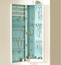A way to organize your jewelry.